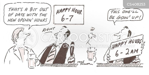 opening hours cartoon
