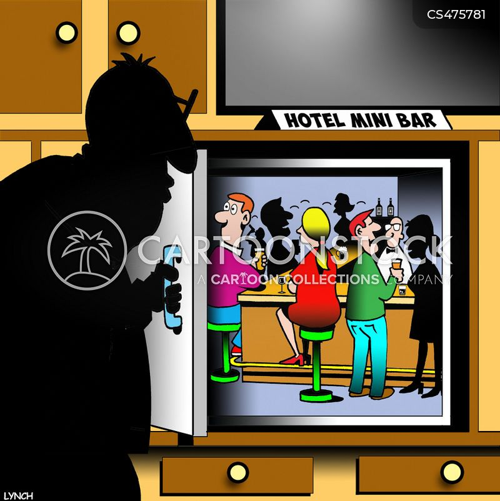 mini-bar cartoon