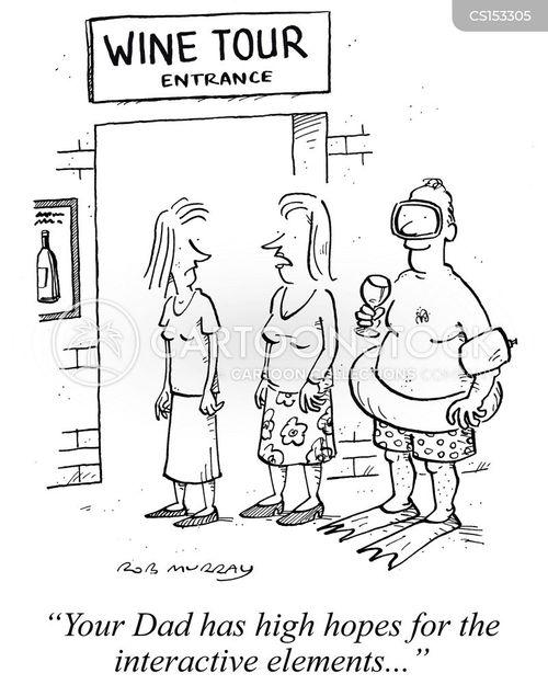 wine tours cartoon