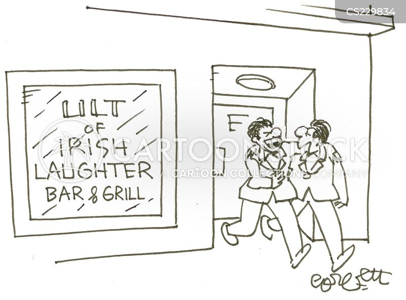 irish bars cartoon