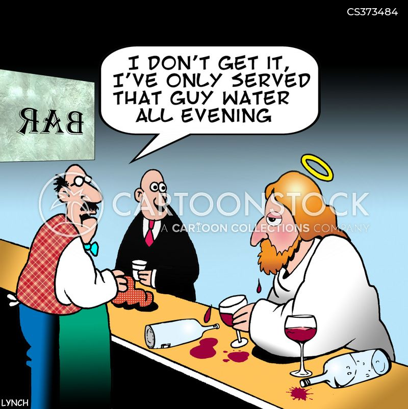 marriage at cana cartoon