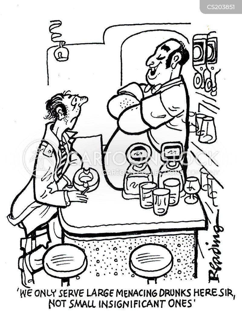 bar tenders cartoon