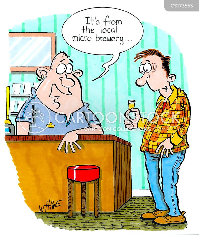 microbrewery cartoon