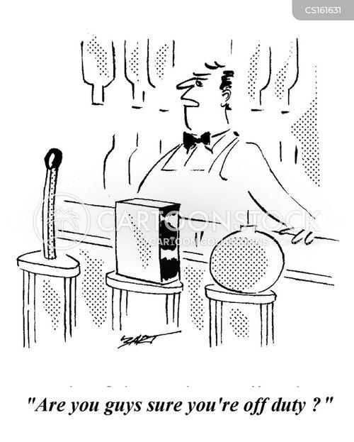 off duty cartoon