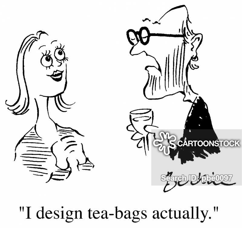 tea bags cartoon
