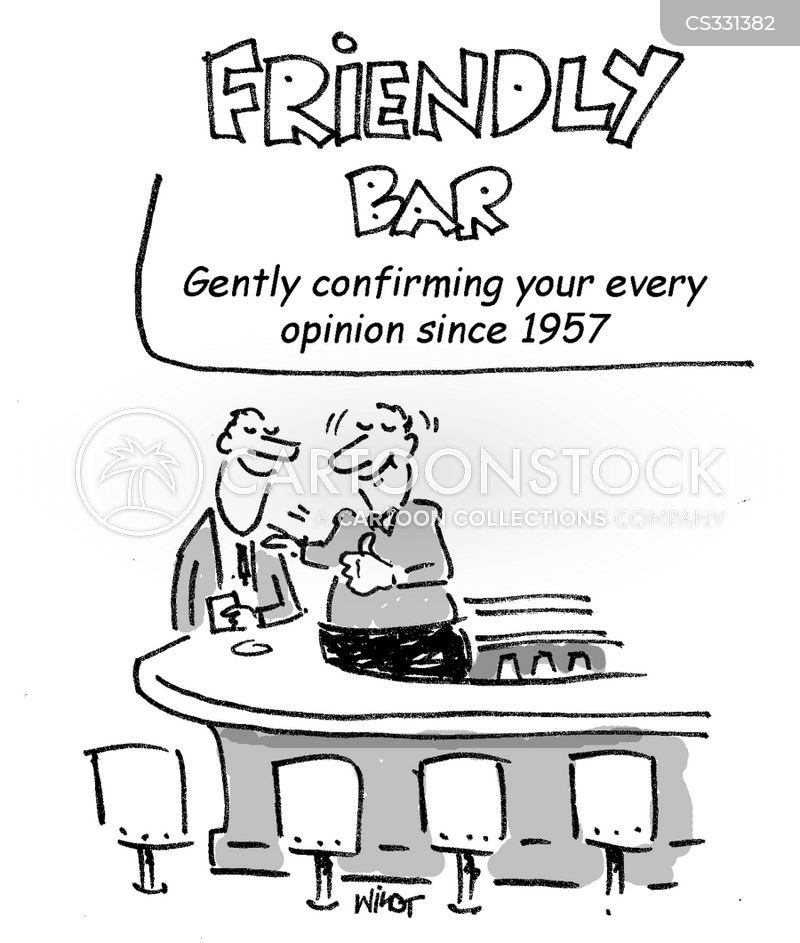 friendly bar cartoon