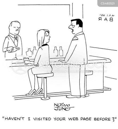 web page cartoon