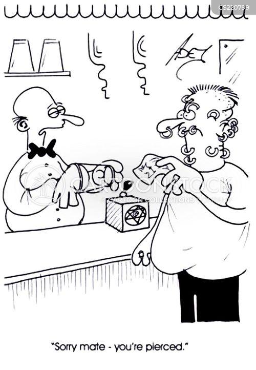 tending bar cartoon