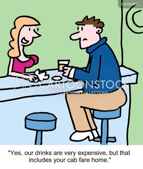 barmaid cartoon