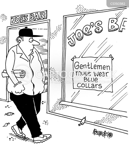 blue collars cartoon