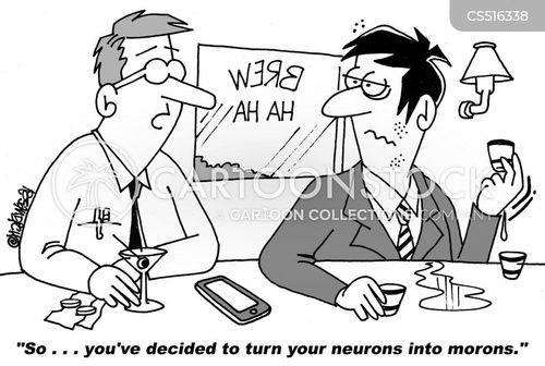 neurons cartoon