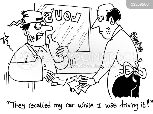 car maker cartoon