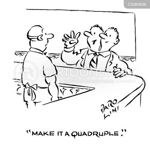quadruple cartoon
