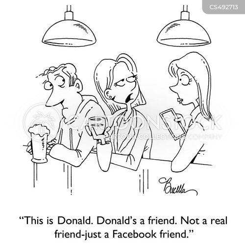 social connection cartoon