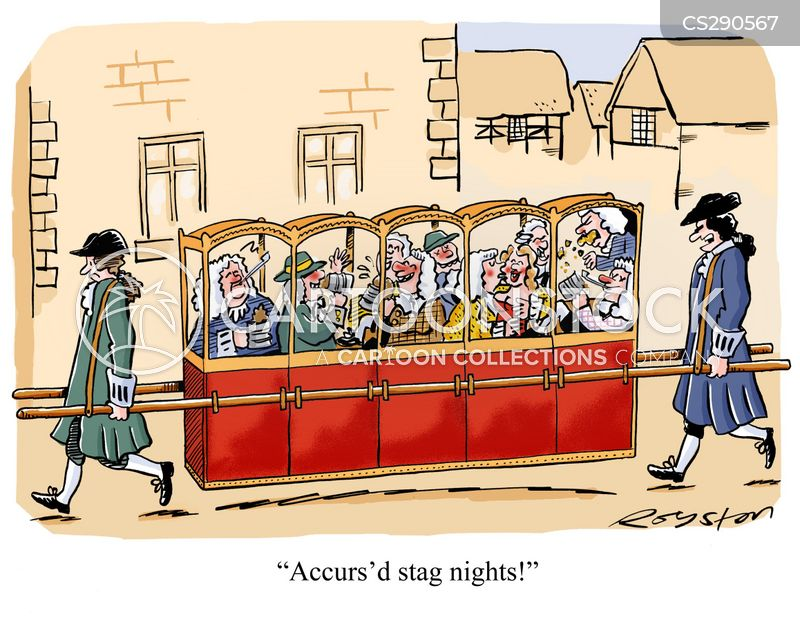 sedan chairs cartoon
