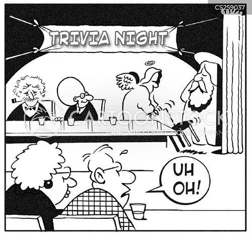 trivia night cartoon
