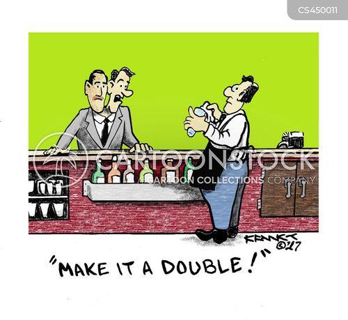 two cartoon