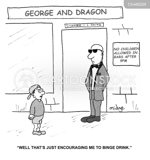 binge drink cartoon