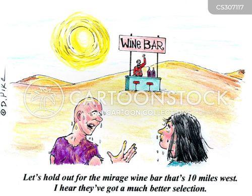 wine bar cartoon