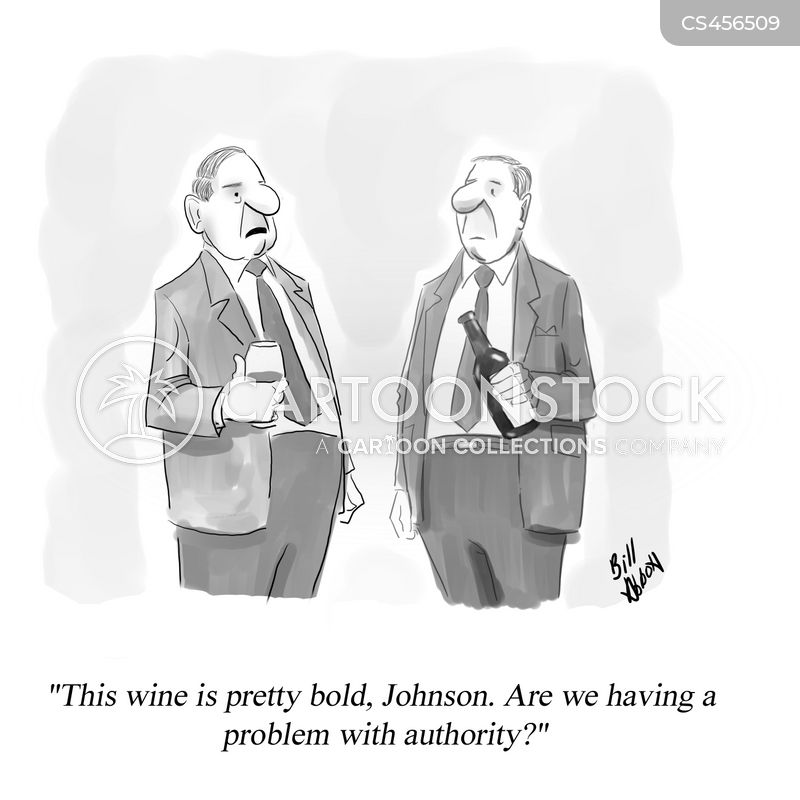 bold wine cartoon