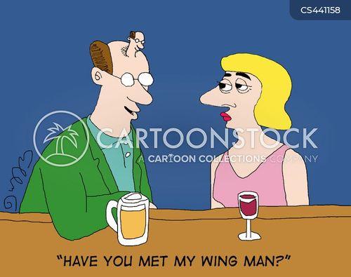 wing man cartoon