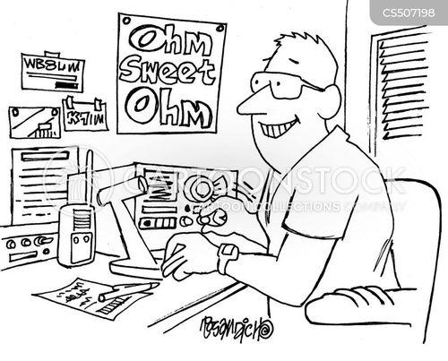 radio enthusiast cartoon