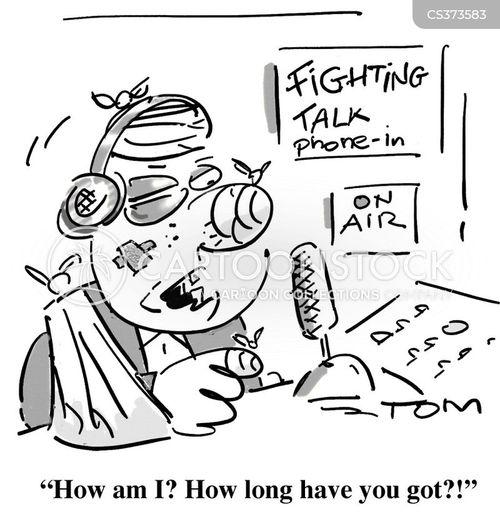call in cartoon