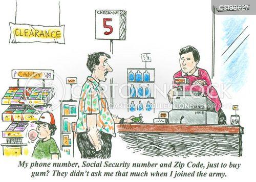 phone number cartoon