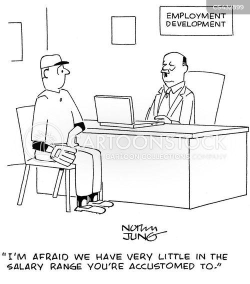 job searching cartoon