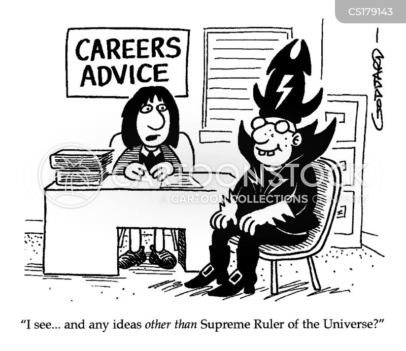 careers advice cartoon