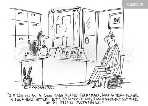 sports metaphors cartoon