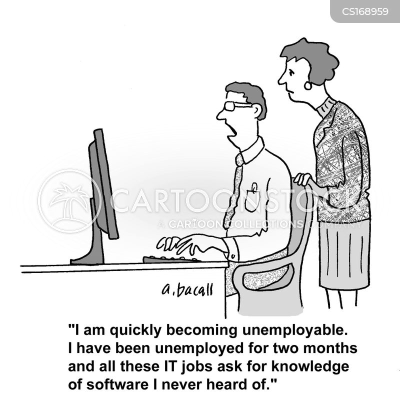 job hunter cartoon