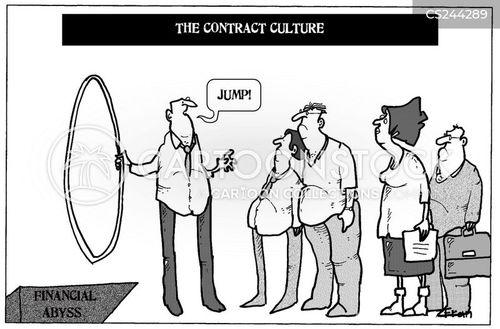 financial abyss cartoon