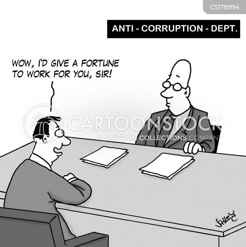 anti-corruption cartoon
