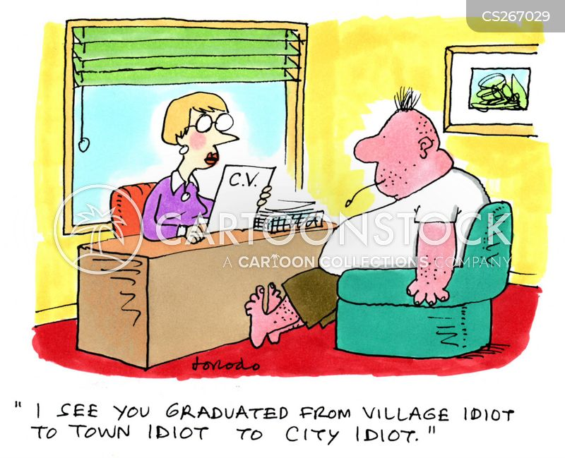 village idiots cartoon