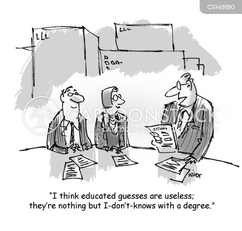 educated guesses cartoon