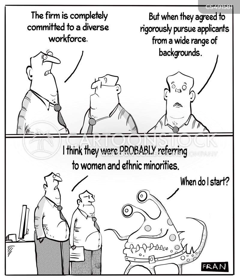 diverse workforces cartoon