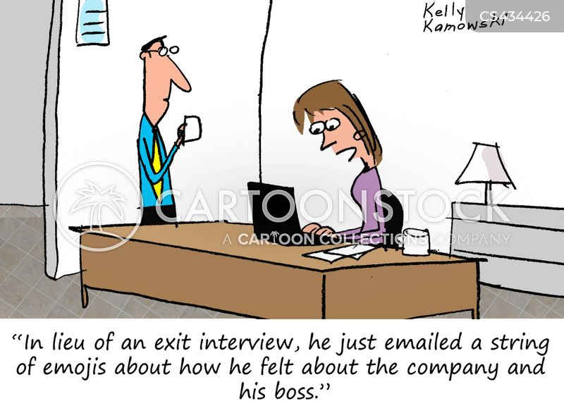 Image result for exit interview cartoon