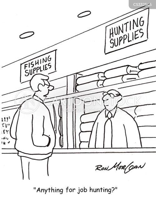 hunting store cartoon
