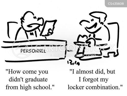 lockers cartoon