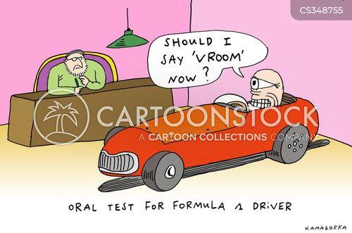 formula one cartoon