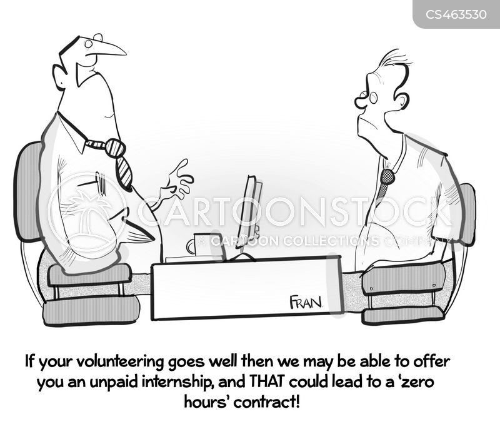 zero hours contract cartoon