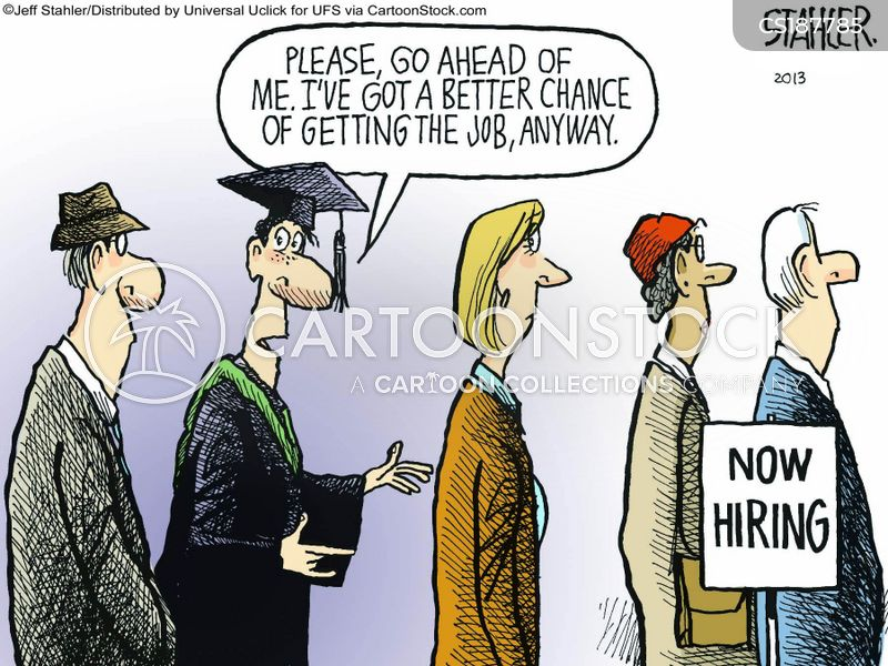 Job Hunter Cartoons and Comics - funny pictures from CartoonStock