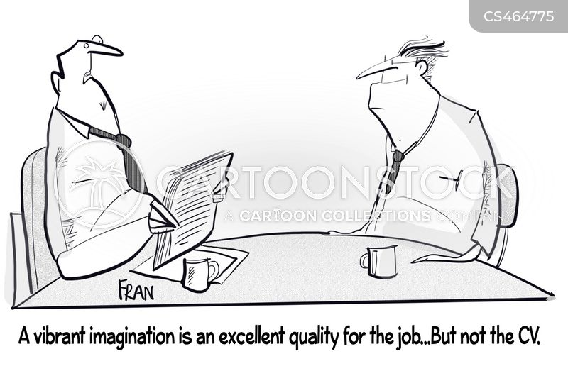 cv writing cartoon