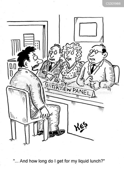 interview panel cartoon
