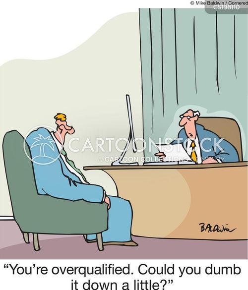 overqualified cartoon