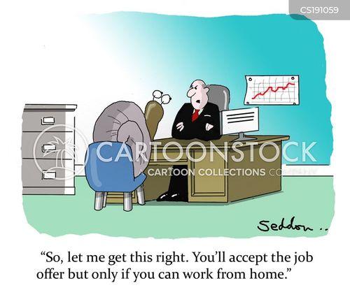telecommute cartoon