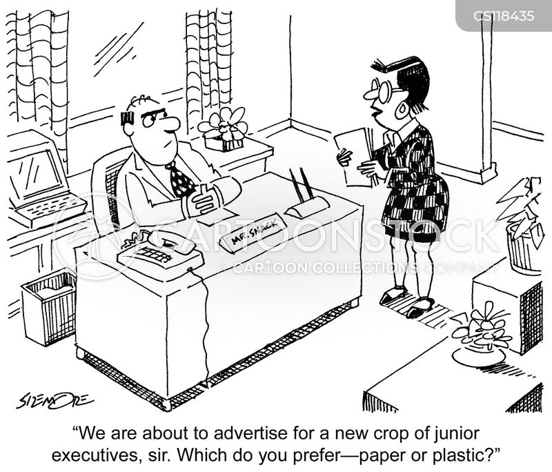 junior executive cartoon