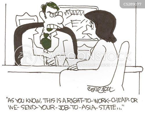 cheap workforce cartoon