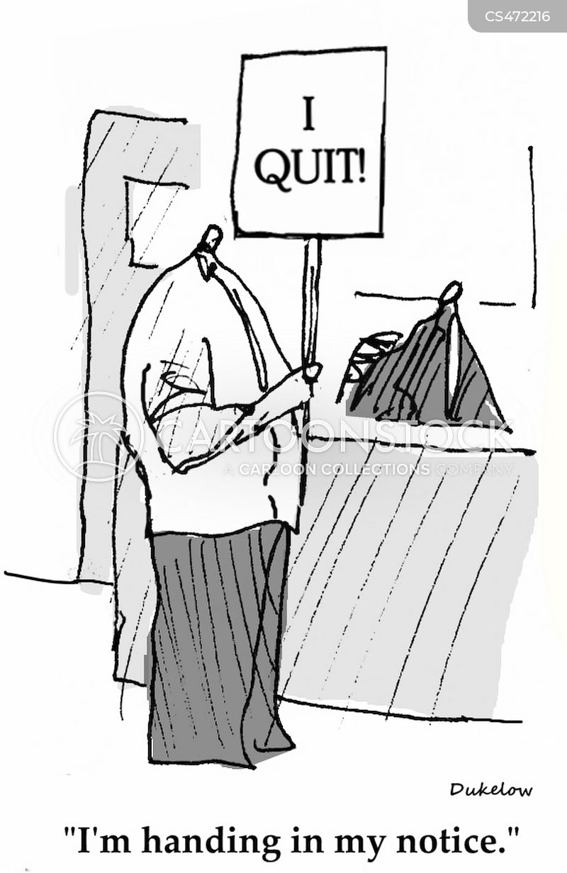 quitting in style cartoon